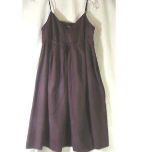 NWOT GAP size 2 dress 100% silk purple color